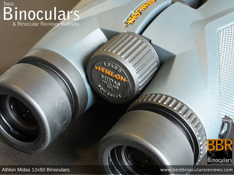 Focus Wheel on the Athlon Midas 12x50 Binoculars