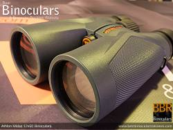 Objective lens on the Athlon Midas 12x50 Binoculars