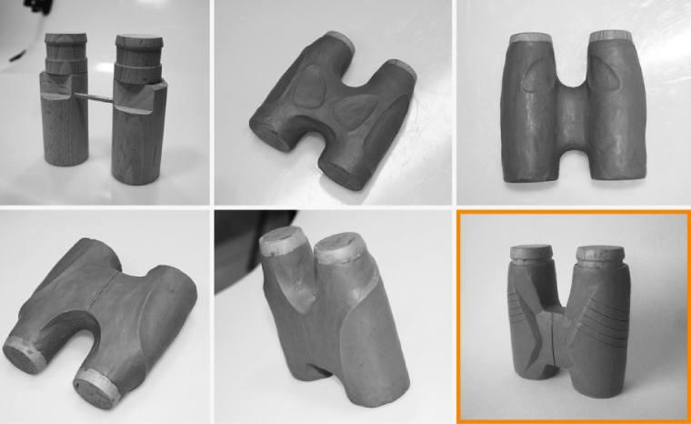 Designing the Athlon Midas 8x42 Binoculars - clay mockups