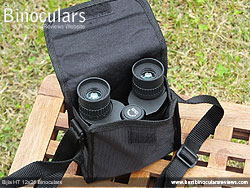 Bijia 12x25 Binoculars in their carry bag