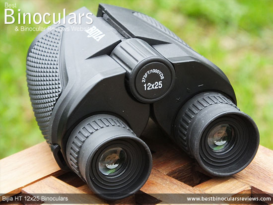 Focus wheel on the Bijia 12x25 HT Binoculars