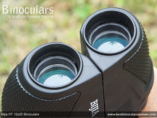 Green coated Objectives on the Bijia 12x25 HT Binoculars