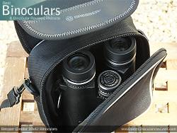 Rear view of the Carry Case & Bresser Condor 10x42 Binoculars