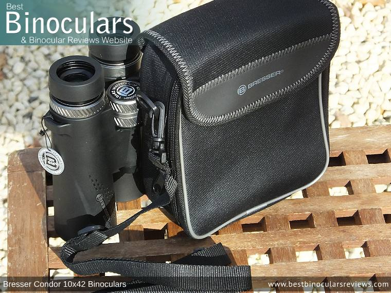 Inside the Bresser Condor 10x42 Binoculars Carry Case