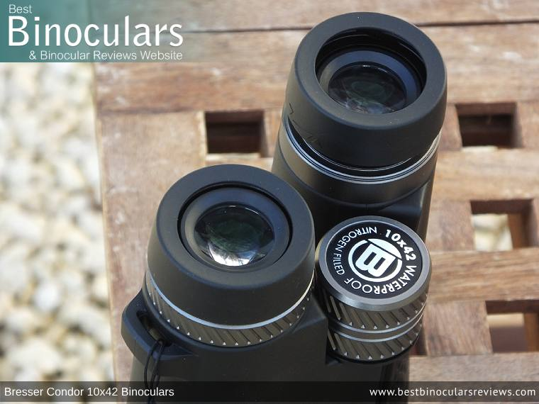Eyecups on the Bresser Condor 10x42 Binoculars