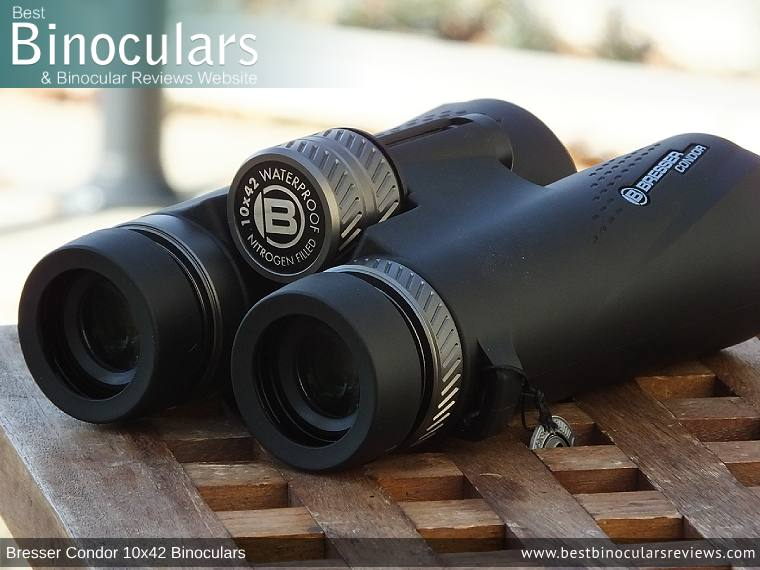 Focus Wheel on the Bresser Condor 10x42 Binoculars