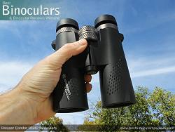 Holding the Bresser Condor 10x42 Binoculars