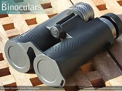 Objective Lens Covers on the Bresser Condor 10x42 Binoculars