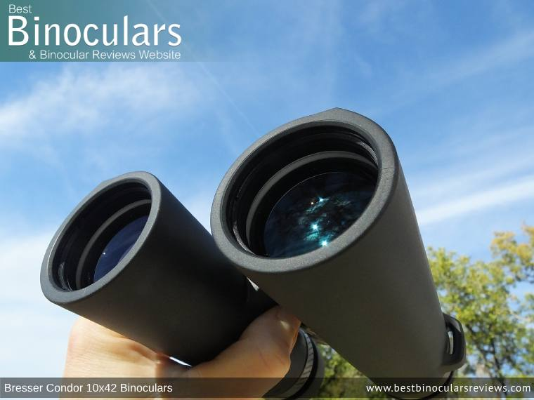 42mm Objective Lenses on the Bresser Condor 10x42 Binoculars