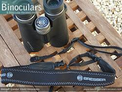 Neck Strap included with the Bresser Condor 10x42 Binoculars