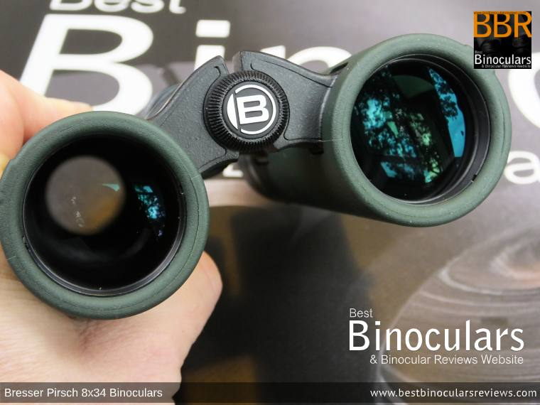 Objective Lenses on the Bresser Pirsch 8x34 Binoculars