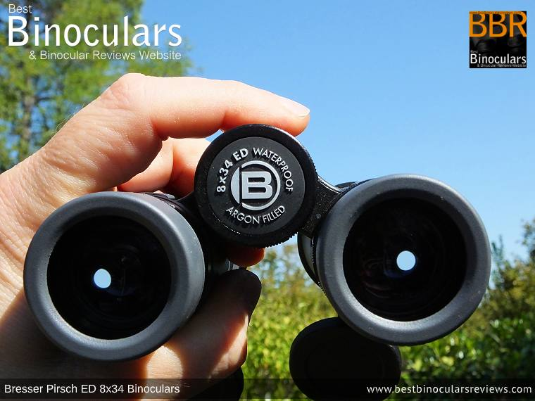 Focus Wheel on the Bresser Pirsch ED 8x34 Binoculars