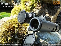 Lens Covers on the Bresser Pirsch ED 8x34 Binoculars