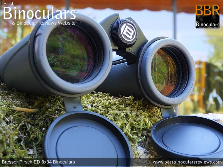 Objective Lenses on the Bresser Pirsch ED 8x34 Binoculars
