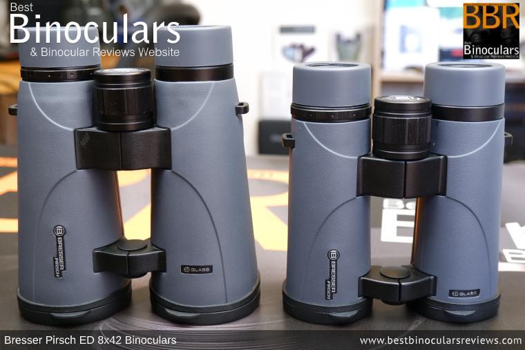 Size Comparison: Bresser Pirsch ED 8x56 vs 8x42 Binoculars