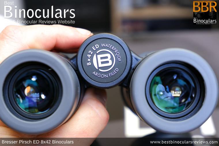 Focus Wheel on the Bresser Pirsch ED 8x42 Binoculars