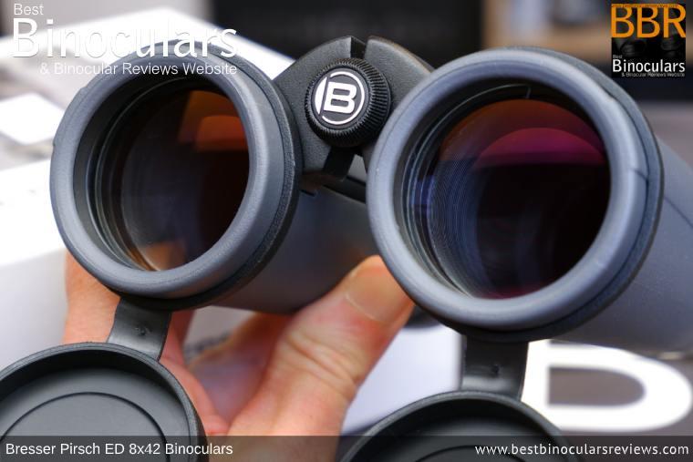 Objective Lenses on the Bresser Pirsch ED 8x42 Binoculars