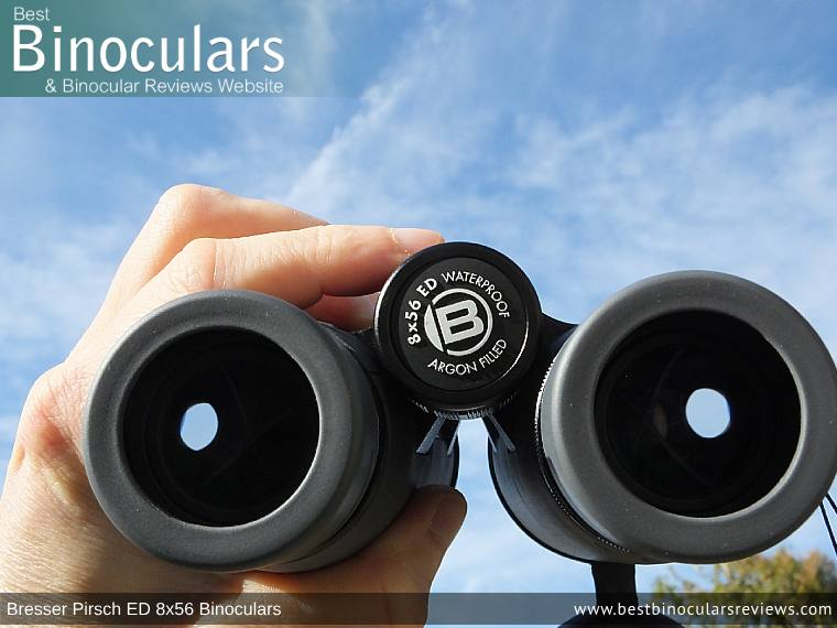 Focus Wheel on the Bresser Pirsch ED 8x56 Binoculars