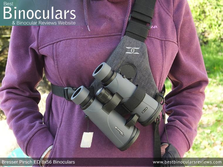 Bresser Pirsch ED Binoculars with the Cotton Skout Binocular Harness