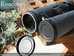 Lens Covers on the Bresser Pirsch ED 8x56 Binoculars