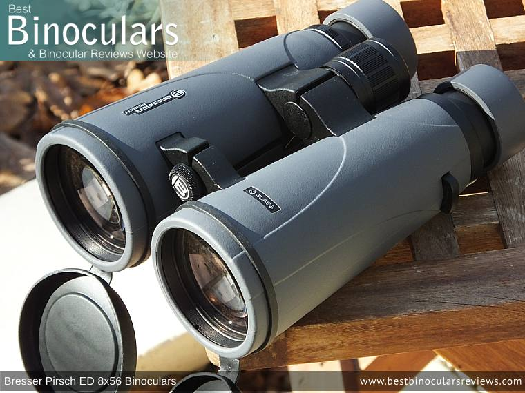 Objective Lenses on the Bresser Pirsch ED 8x56 Binoculars