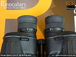 Individual eyepiece focussing (diopter adjusters) on the Bresser Spezial Astro SF 15x70 Binoculars