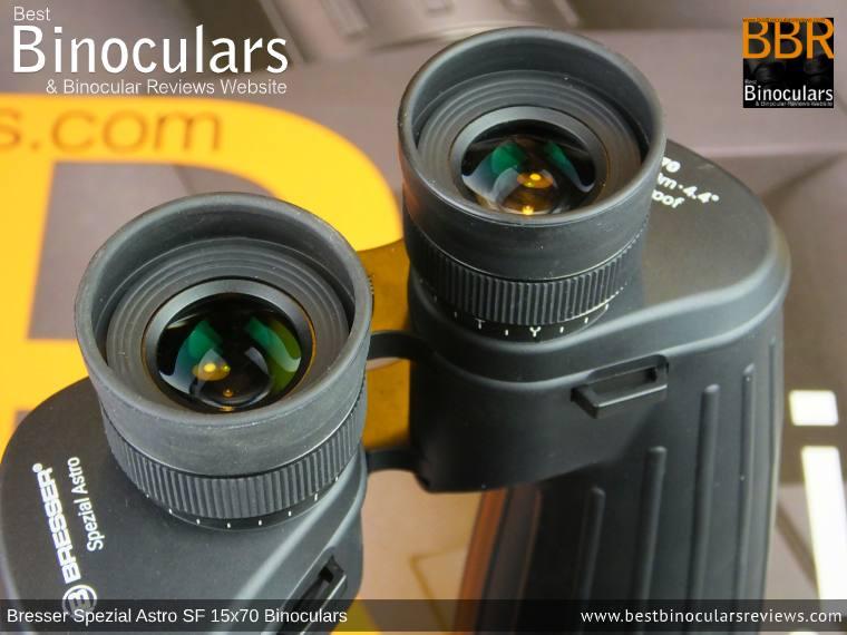 Ocular Lenses on the Bresser Spezial Astro SF 15x70 Binoculars