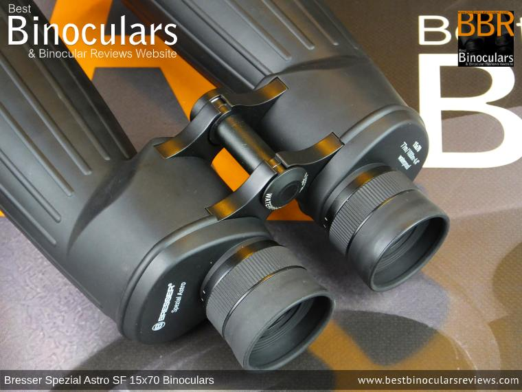 Typical Porro Prism Shape of the Bresser Spezial Astro SF 15x70 Binoculars