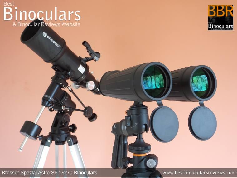 Bresser Spezial Astro SF 15x70 Binoculars & BRESSER Polaris 102/460 EQ3 Telescope