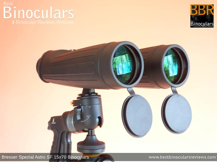 Bresser Spezial Astro SF 15x70 Binoculars on a tripod