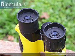 Eyecups on the Snypex Knight D-ED 10x32 Binoculars