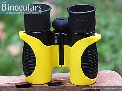 The underside of the Snypex Knight D-ED 10x32 Binoculars