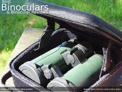 Rear view of the Carry Case & Carson RD 8x42 Binoculars