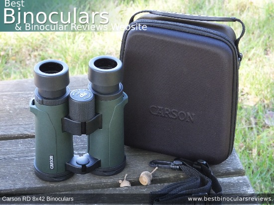 Inside the Carson RD 8x42 Binoculars Carry Case