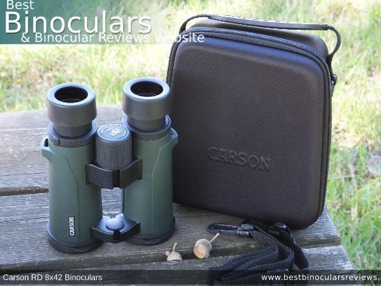 Inside the Carson RD 8x42 Binoculars Carry Case