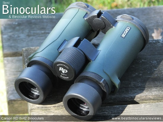 Focus Wheel on the Carson RD 8x42 Binoculars