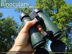 Open bridge design on the Carson RD 8x42 Binoculars