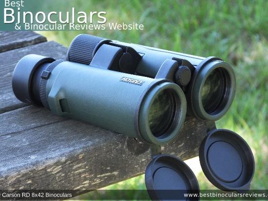 42mm Objective Lenses on the Carson RD 8x42 Binoculars