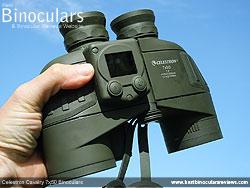 Me holding the Celestron Cavalry 7x50 Binoculars