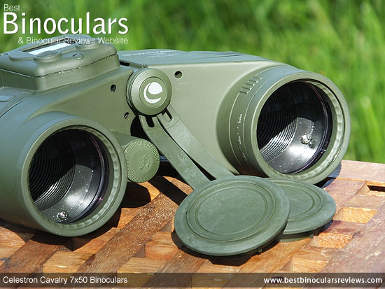 50mm Objective Lenses on the Celestron Cavalry 7x50 Binoculars