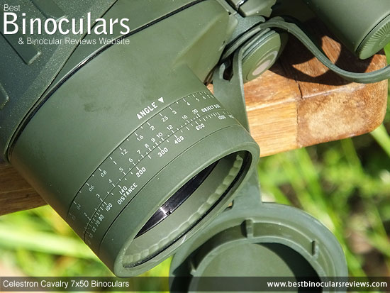 Battery Compartment on the Celestron Cavalry 7x50 Binoculars