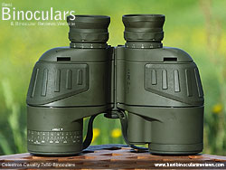 Rear of the Celestron Cavalry 7x50 Binoculars