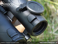 Objective Lens Covers on the Celestron Granite 9x33 Binoculars
