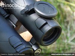 Objective Lens Covers on the Celestron Granite 9x33 Binoculars