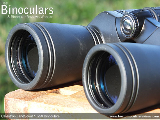 50mm Objective Lenses on the Celestron LandScout 10x50 Binoculars