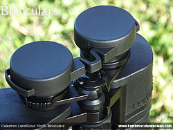 Rain Guard on the Celestron LandScout 10x50 Binoculars