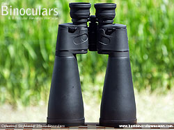 Rear of the Celestron SkyMaster 25x70 Binoculars