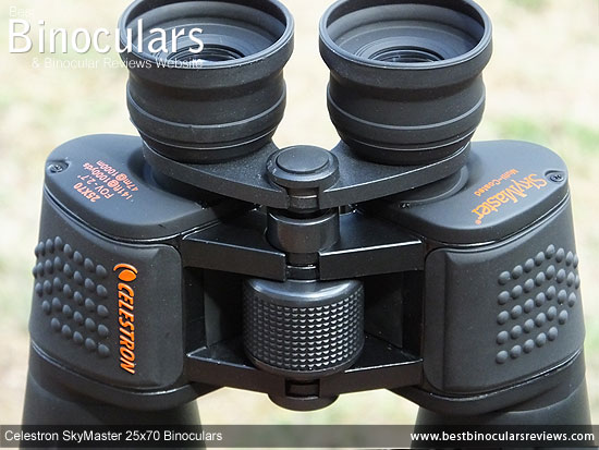 Focus Wheel on the Celestron SkyMaster 25x70 Binoculars