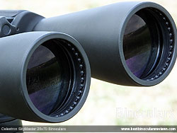 Objective Lenses on the Celestron SkyMaster 25x70 Binoculars