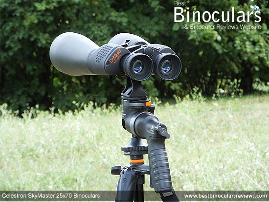 Celestron SkyMaster 25x70 Binoculars on a tripod
